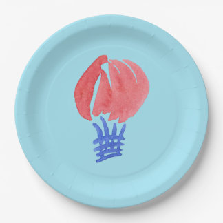 Air Balloon Paper Plates 9''