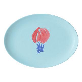 Air Balloon Porcelain Coupe Platter
