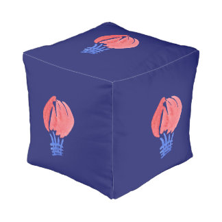Air Balloon Small Polyester Cubed Pouf