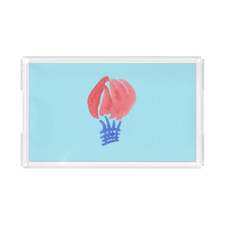 Air Balloon Small Rectangle Serving Tray