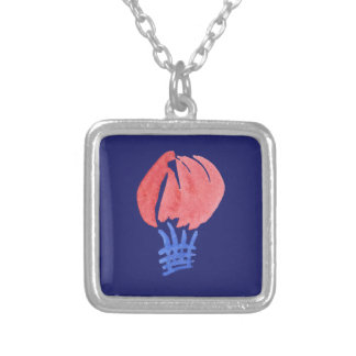 Air Balloon Small Square Necklace