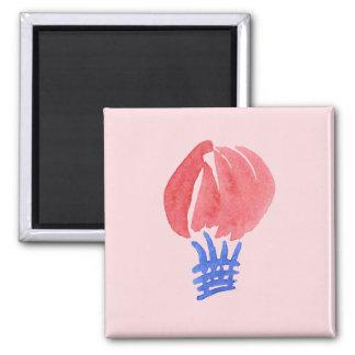 Air Balloon Square Magnet