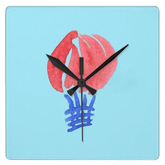Air Balloon Square Wall Clock