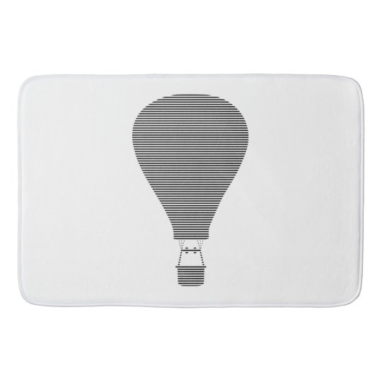 Air balloon -strips - black. bath mat