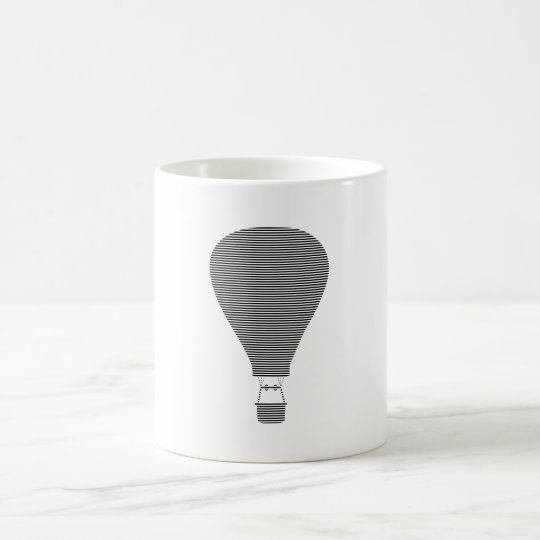 Air balloon -strips - black. coffee mug