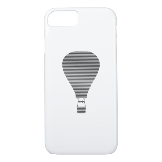 Air balloon -strips - black. iPhone 8/7 case