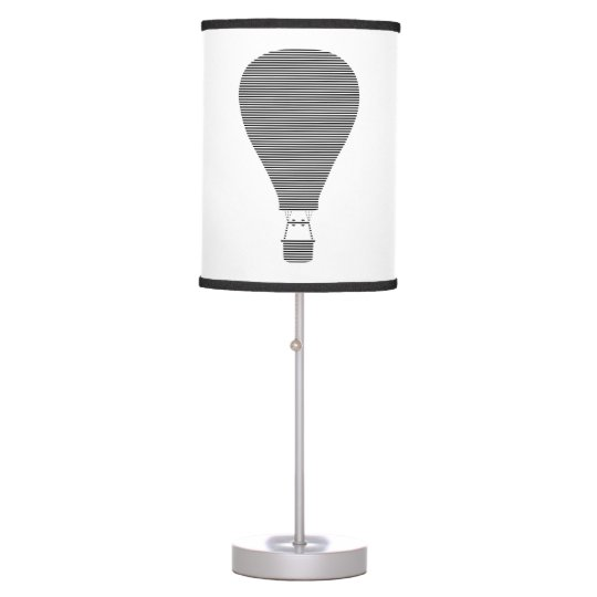 Air balloon -strips - black. table lamp