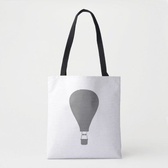 Air balloon -strips - black. tote bag
