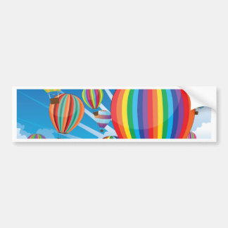 Air Balloons in the Sky 3 Bumper Sticker