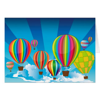 Air Balloons in the Sky Card