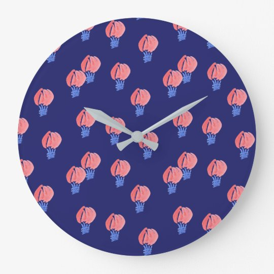 Air Balloons Large Round Wall Clock