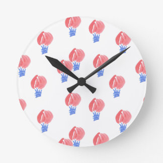 Air Balloons Medium Round Wall Clock