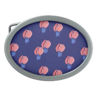 Air Balloons Oval Belt Buckle