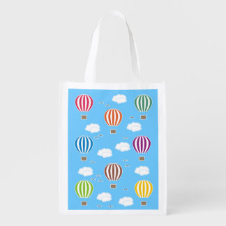 Air Balloons Pattern Reusable Grocery Bag