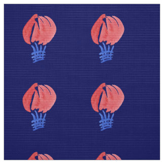 Air Balloons Polyester Poplin Fabric