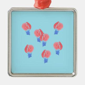 Air Balloons Premium Square Ornament