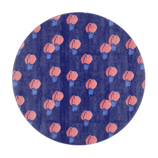 Air Balloons Round Glass Cutting Board