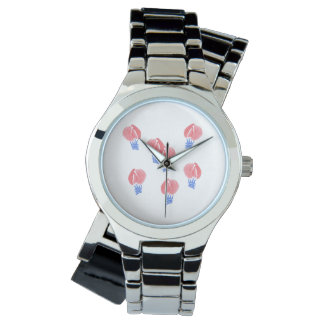 Air Balloons Silver Wrap-Around Watch