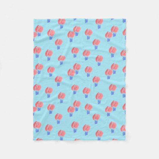 Air Balloons Small Fleece Blanket