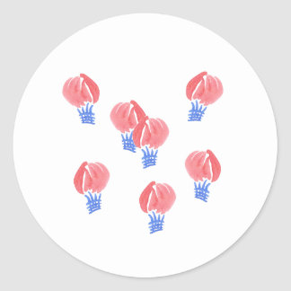 Air Balloons Small Glossy Round Sticker