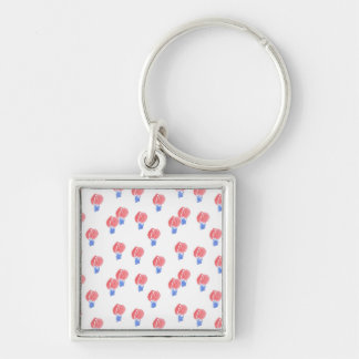 Air Balloons Small Square Premium Keychain