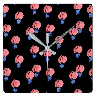 Air Balloons Square Wall Clock