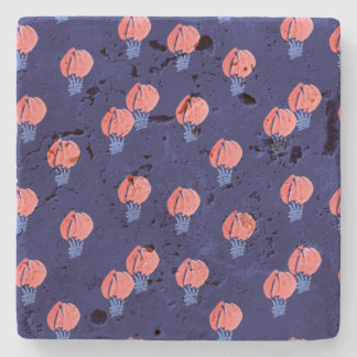 Air Balloons Travertine Stone Coaster