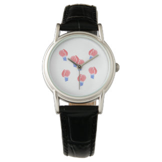 Air Balloons Women's Classic Leather Watch