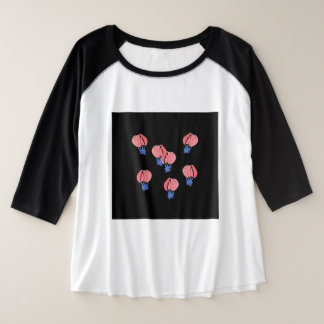 Air Balloons Women's Plus Size Raglan T-Shirt