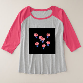 Air Balloons Women's Plus Size Raglan T-Shirt