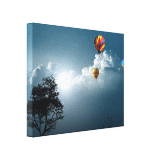 Air Balloons Wrapped Canvas