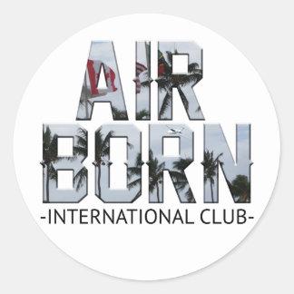 AIR BORN INT STICKER