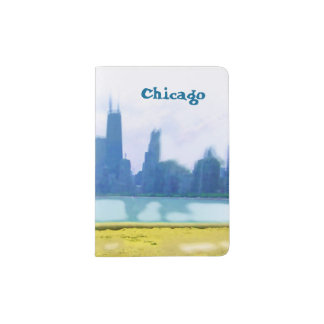 Air Brushed Chicago Skyscrapers Passport Holder