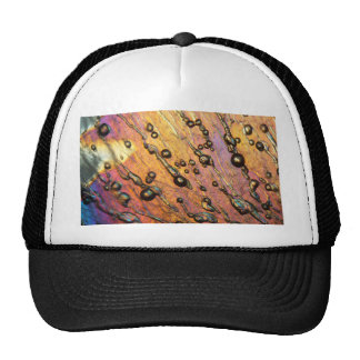 Air bubbles in ice under the microscope trucker hat