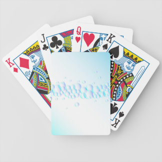 Air Bubbles On Water Bicycle Playing Cards