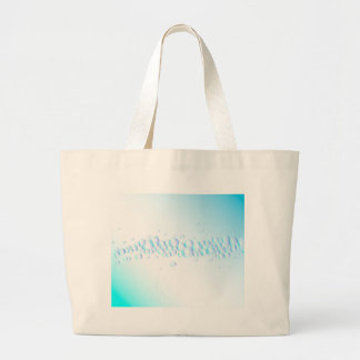Air Bubbles On Water Large Tote Bag