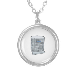 Air Conditioner Unit Ice Cold AC Heat Pump Silver Plated Necklace