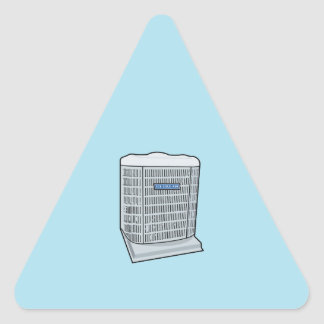Air Conditioner Unit Ice Cold AC Heat Pump Triangle Sticker