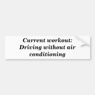 Air Conditioning Bumper Sticker Car Bumper Sticker