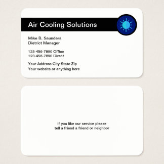 Air Conditioning Service Businesscards Business Card