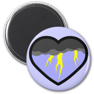 Air Elemental Heart 2 Inch Round Magnet
