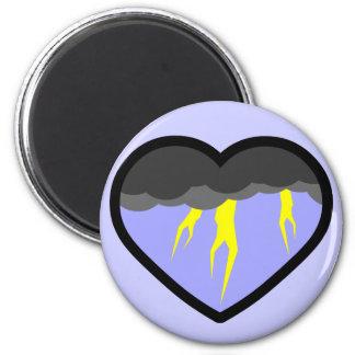 Air Elemental Heart Fridge Magnet