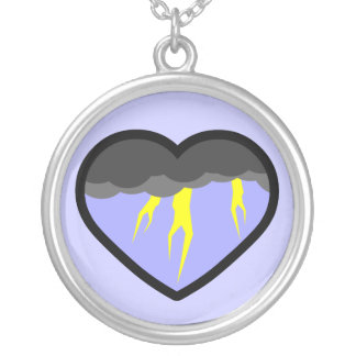Air Elemental Heart Silver Plated Necklace