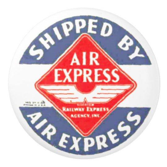 Air Express by Railway Express Agency Ceramic Knob