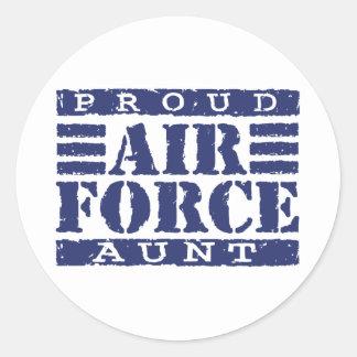 Air Force Aunt Round Sticker