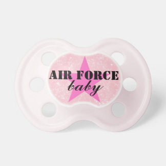 """Air Force Baby"" Girls Patriotic Military Pacifier"