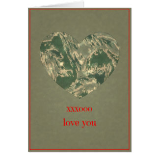 Air Force Camo Valentine Hearts - Valentine's Day Card