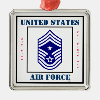 Air Force Command CMSgt - E-9 Metal Ornament