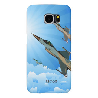 Air Force F16 Fighter Team Flying Into Clouds Samsung Galaxy S6 Cases