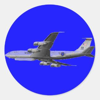 AIR FORCE JET AIRCRAFT ROUND STICKER